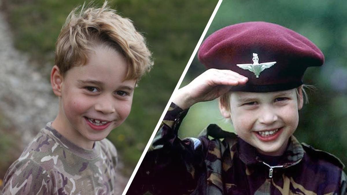 parecido del príncipe George y su papá