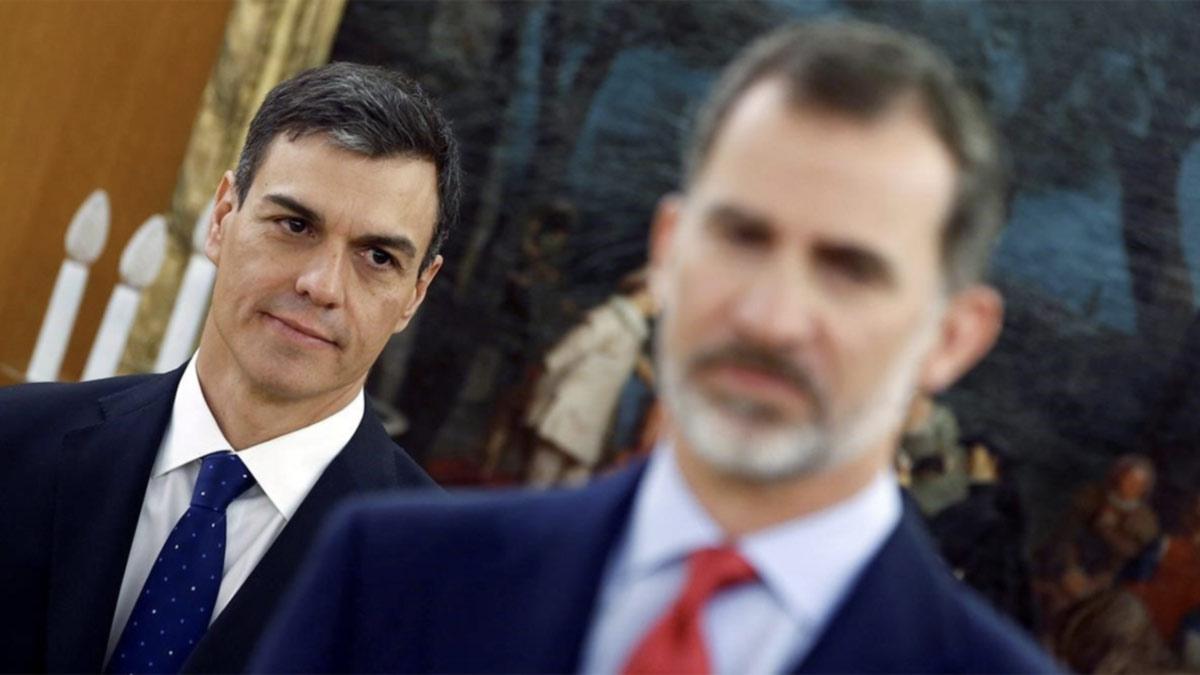 Encuentro entre el rey Felipe y Pedro Sánchez