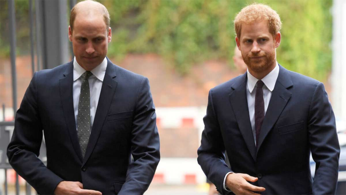 separación del príncipe Harry y William