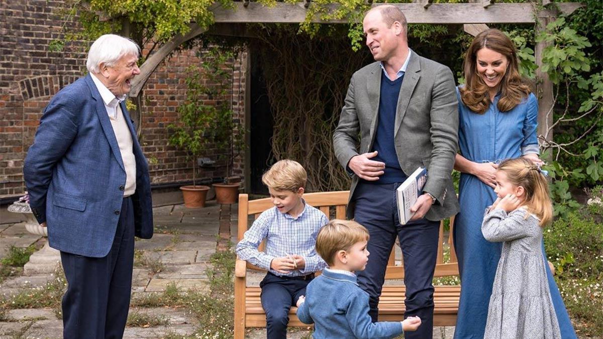 David Attenborough al príncipe George