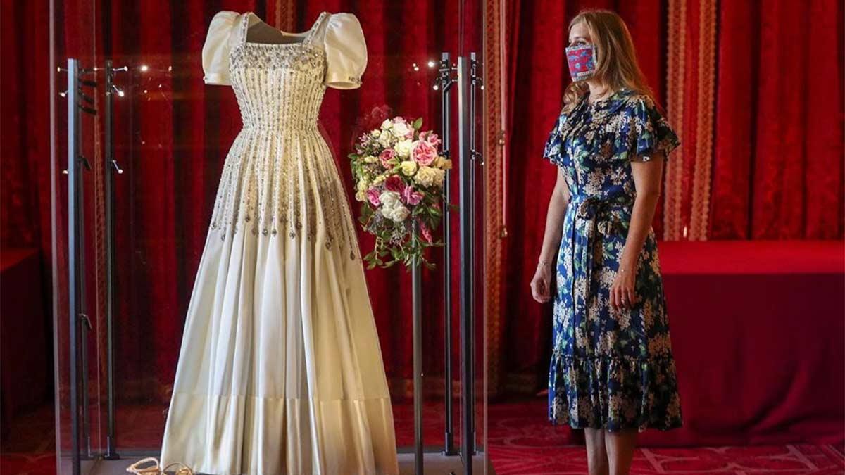 Exposición del vestido de novia de la princesa Beatriz