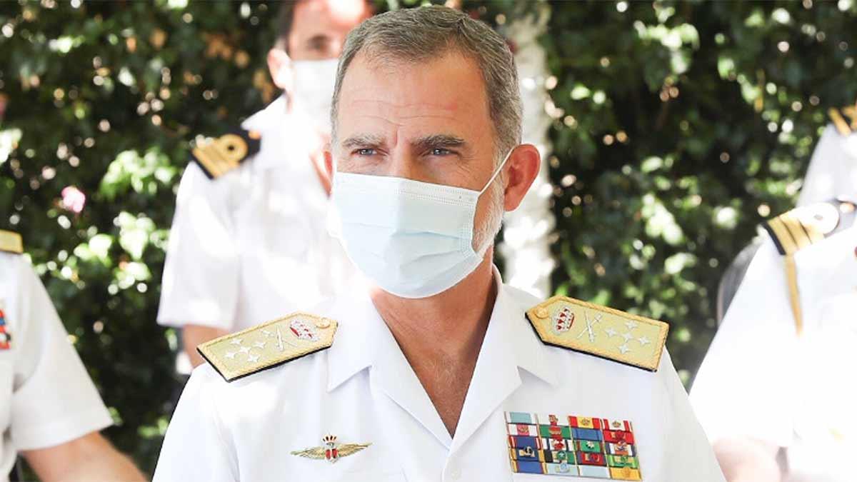 Visita del rey Felipe a la Comandancia Naval Miño