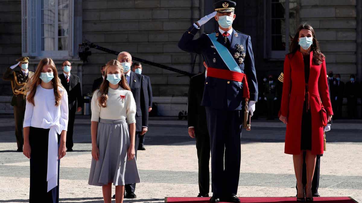 Reina Letizia y Sofía en el Día de la Fiesta Nacional