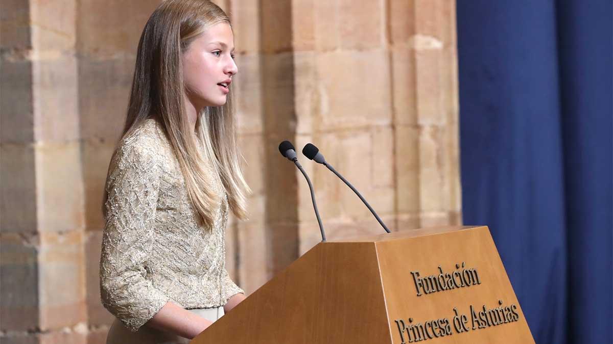 Discurso de Leonor en los Premios Princesas de Asturias