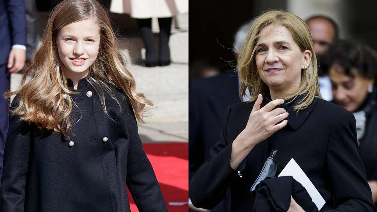 Gesto de la princesa Leonor a la infanta Cristina