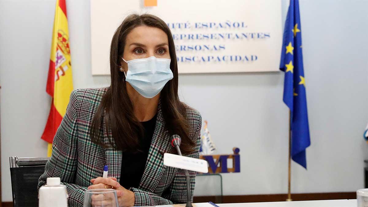 Reina Letizia en el encuentro con el CERMI