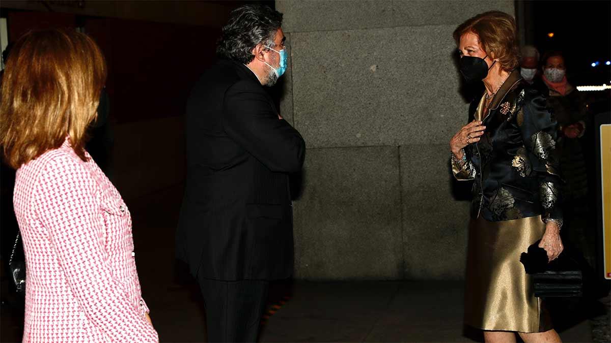 Reina Sofía en el concierto en el Auditorio Nacional de Música