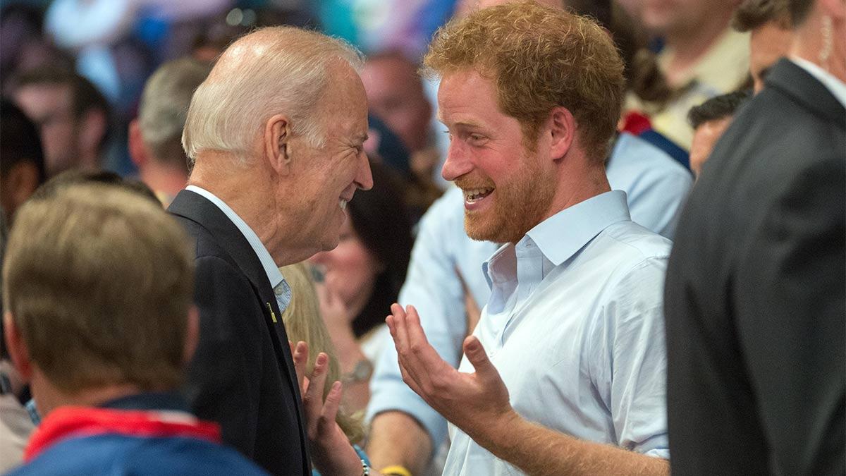Amistad del príncipe Harry con Joe Biden » Enrique de Sussex